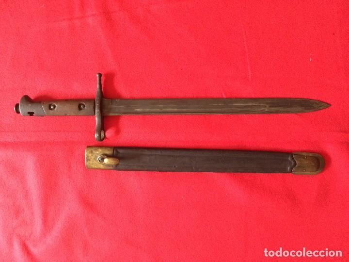 BAYONETA CARCANO. MODELO POCO COMUN. (Militar - Armas Blancas Originales Fabricadas entre 1851 y 1945)