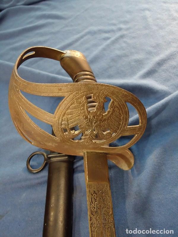 ALEMANIA IMPERIAL. ESPADA DE OFICIAL DE CABALLERÍA DE PRUSIA MODELO 89. HOJA GRABADA SCHLESW. HOLST. (Militar - Armas Blancas Originales Fabricadas entre 1851 y 1945)