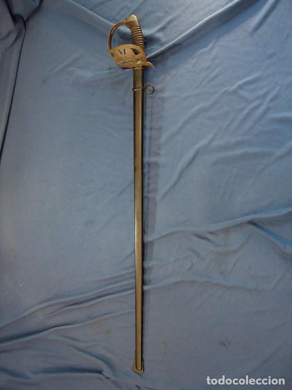 Militaria: Alemania Imperial. Espada de Oficial de Caballería de Prusia modelo 89. Hoja grabada Schlesw. Holst. - Foto 2 - 86844344