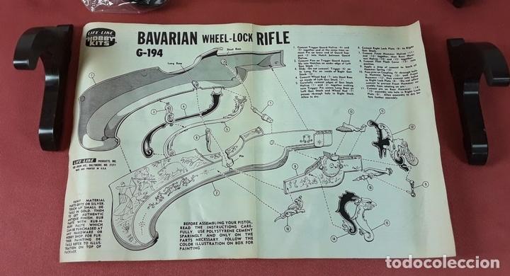 Militaria: MAQUETA DE RIFLE. BAVARIAN WHELLOCK. RESINA. G194. ESC 1:1. LIFE LIKE HOBBY KITS. AÑO 1968. - Foto 6 - 88753304