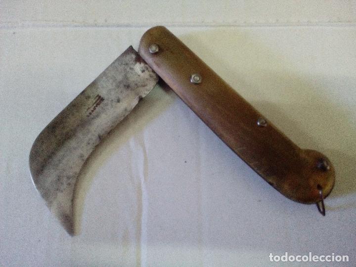 Militaria: Couteaux. Serpette Française. beauvoir. Navaja francesa cachas de asta - Foto 3 - 90516355