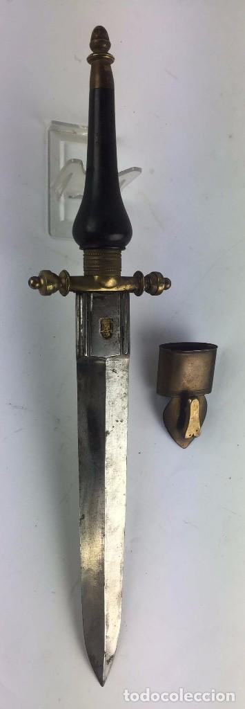 CUCHILLO O BAYONETA DE TACO DE ANTONIO ROJO CONOCIDO TAMBIEN POR ANTONIO ROXO (PLUG BAYONET) SIGLO X (Militar - Armas Blancas Originales de Fabricación Anterior a 1850)