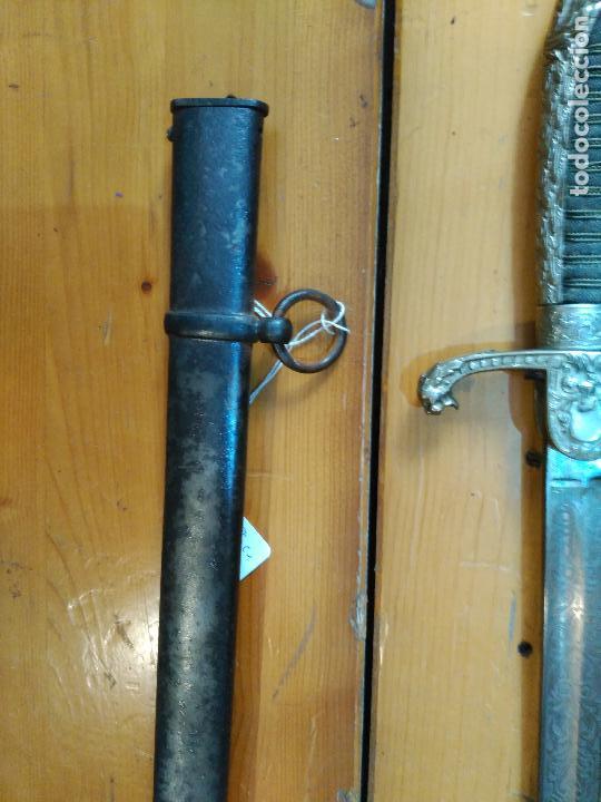 Militaria: MAGNIFICO SABLE OFICIAL GUERRA PACIFICO LONGITUD CON VAINA 95 cm.espada ceñir SIGLO XIX 584,00 € - Foto 5 - 94223740