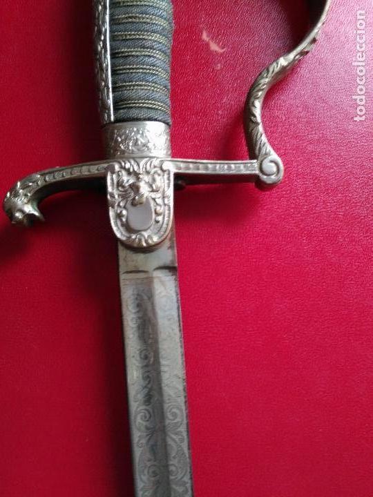 Militaria: MAGNIFICO SABLE OFICIAL GUERRA PACIFICO LONGITUD CON VAINA 95 cm.espada ceñir SIGLO XIX 584,00 € - Foto 7 - 94223740