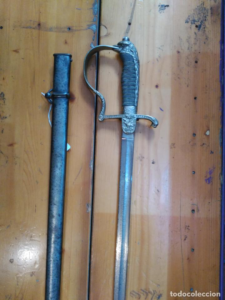 Militaria: MAGNIFICO SABLE OFICIAL GUERRA PACIFICO LONGITUD CON VAINA 95 cm.espada ceñir SIGLO XIX 584,00 € - Foto 9 - 94223740
