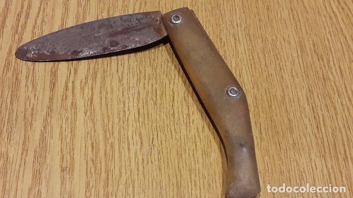 ANTIGUA NAVAJA PALLARÉS - SOLSONA. 19 CM. LARGO / CONTRASTE EN HOJA. (Militar - Armas Blancas Originales de Fabricación Posterior a 1945)