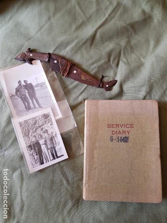 LOTE 2 FOTOS, PEQUEÑO CUCHILLO FILIPINAS Y LIBRO DE SERVICIOS (Militar - Armas Blancas Originales Fabricadas entre 1851 y 1945)