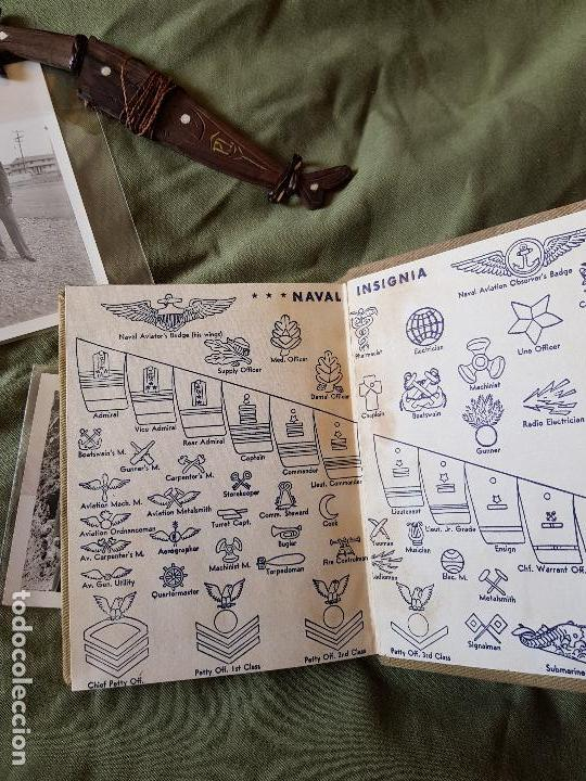 Militaria: Lote 2 fotos, pequeño cuchillo Filipinas y libro de servicios - Foto 3 - 95049771