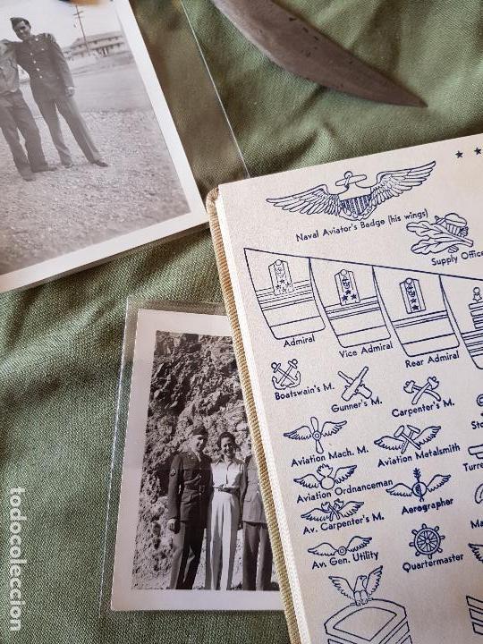 Militaria: Lote 2 fotos, pequeño cuchillo Filipinas y libro de servicios - Foto 4 - 95049771
