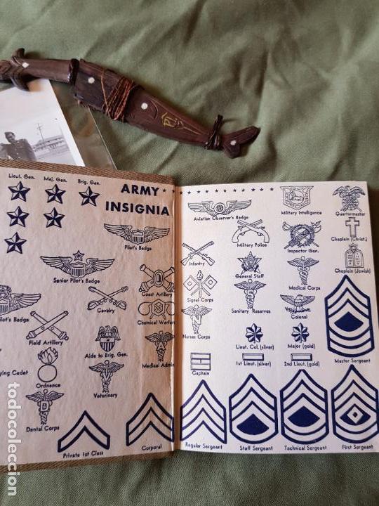 Militaria: Lote 2 fotos, pequeño cuchillo Filipinas y libro de servicios - Foto 6 - 95049771