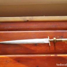 Militaria: CUCHILLO DE MONTERIA,GRABADOS EN DOS CARAS. Lote 95720111