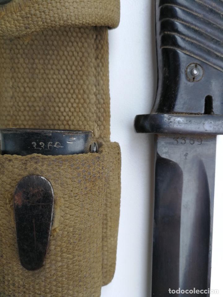 Militaria: BAYONETA ALEMANA PARA MAUSER KAR 98K - CON SU FUNDA Y TAHALI DEL AFRIKA KORPS - 1941 - CLEMENT JUNG - Foto 4 - 96535419