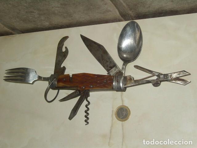 ANTIGUA NAVAJA MULTIUSOS. (Militar - Armas Blancas Originales Fabricadas entre 1851 y 1945)