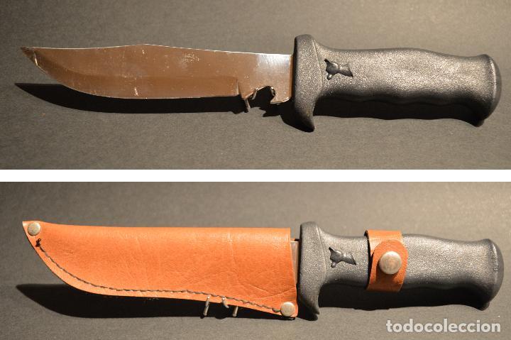 ANTIGUO CUCHILLO DE MONTE CAZA DE ALBACETE (Militar - Armas Blancas Originales de Fabricación Posterior a 1945)