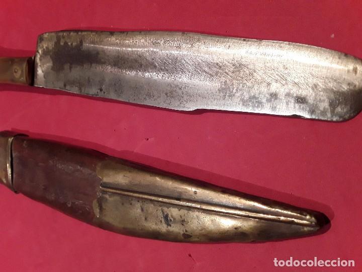 Militaria: Cuchillo caza mango Asta y hueso finales s.XIX - Foto 5 - 97733115