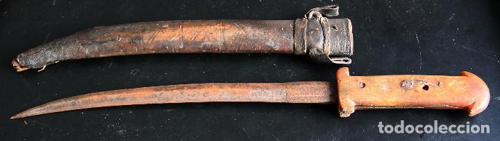 CUCHILLO, DAGA GOUMIA RIFEÑA ANTIGUA (Militar - Armas Blancas Originales Fabricadas entre 1851 y 1945)