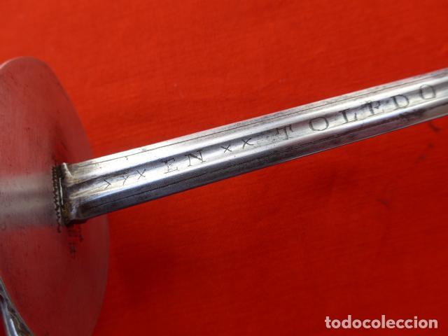 Militaria: * Espectacular antigua espada española de plata, marcada de Toledo de 1817. Con contrastes. ZX - Foto 14 - 101769271
