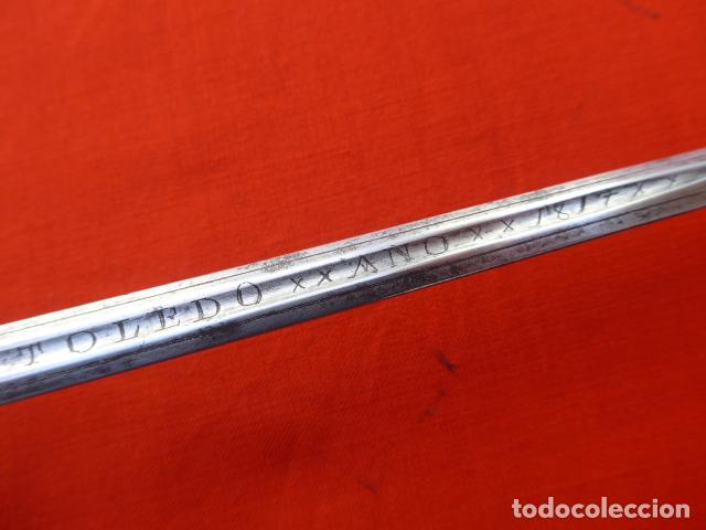 Militaria: * Espectacular antigua espada española de plata, marcada de Toledo de 1817. Con contrastes. ZX - Foto 15 - 101769271