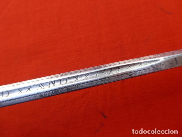 Militaria: * Espectacular antigua espada española de plata, marcada de Toledo de 1817. Con contrastes. ZX - Foto 16 - 101769271