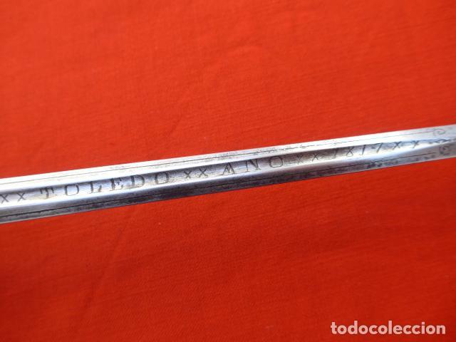 Militaria: * Espectacular antigua espada española de plata, marcada de Toledo de 1817. Con contrastes. ZX - Foto 20 - 101769271