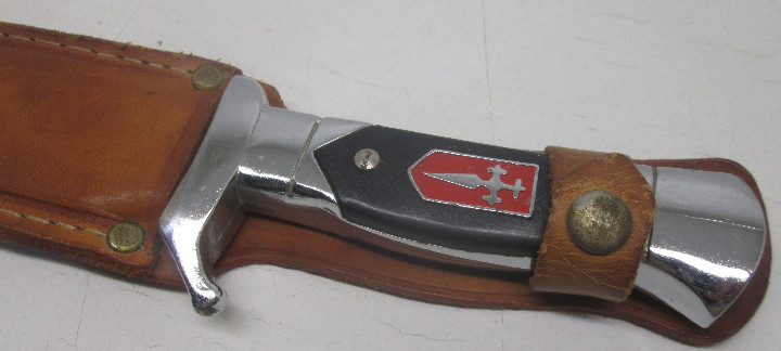 Militaria: Cuchillo deportivo, caza, monte, Cruz de Santiago, con funda - Foto 6 - 104395195