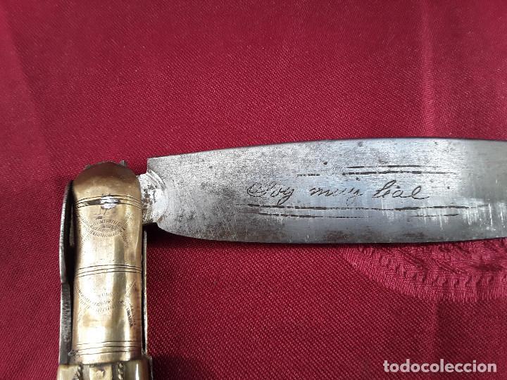 Militaria: ESPECTACULAR NAVAJA ALBACETEÑA DEL SIGLO XIX .ABIERTA 55 CM. - Foto 3 - 105021155