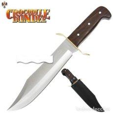Militaria: CUCHILLO BOWIE COCODRILO DUNDEE + FUNDA. 38 CMS. Lote 107361479