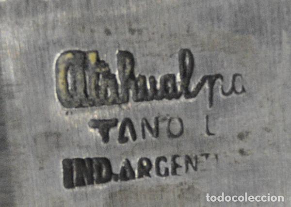 Militaria: Facón argentino de alpaca. Fabricado por Atahualpa de Tandil. 268 mm total. - Foto 4 - 108270995