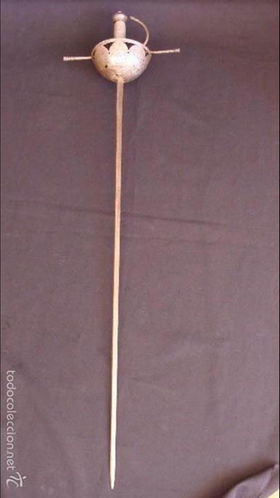 Militaria: Espada ropera de taza , tercios españoles , siglo XVII - Foto 2 - 60841587