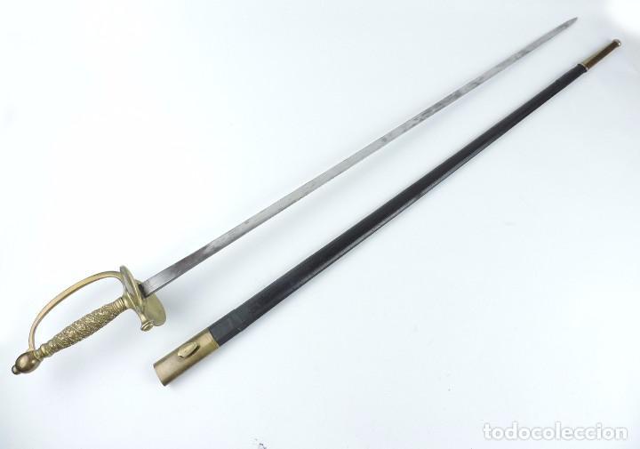 Militaria: Antigua espada para oficiales francesa de 1855, fabricada por manofactura Coulaux & cie Klingenthal, - Foto 8 - 108434183