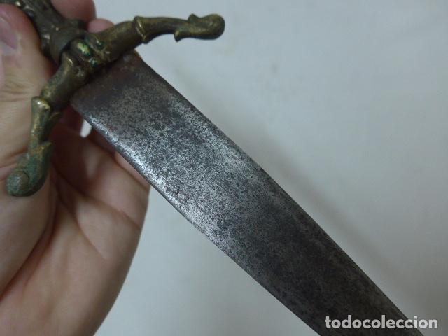 Militaria: Antiguo cuchillo o daga de defensa española - Foto 5 - 108563999