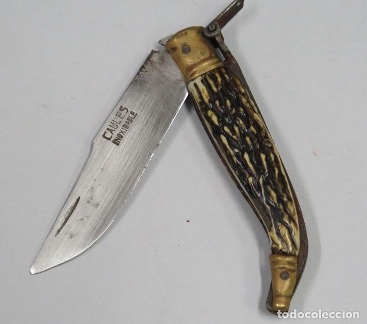 ANTIGUA NAVAJA. CAULES. PRIMERA MITAD SIGLO XX (Militar - Armas Blancas Originales Fabricadas entre 1851 y 1945)