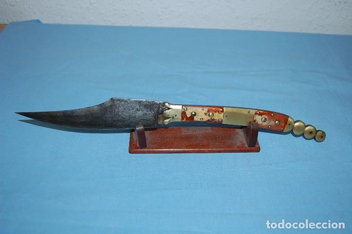 NAVAJA FRANCESA HAUDEVILLE PARA MERCADO ESPAÑOL (Militar - Armas Blancas Originales Fabricadas entre 1851 y 1945)