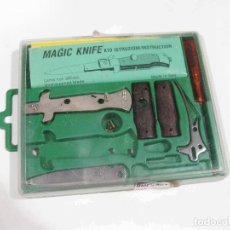 Militaria: SET DE NAVAJA O CUCHILLO DESMONTABLE DE LOS AÑOS 80 MAGIC KNIFE INCOMPLETO. Lote 115062039