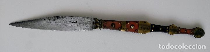 ANTIGUA Y PRECIOSA NAVAJA FINALES SIGLO XIX - CON PUNZÓN DE HAUDEVILLE EN ALBACETTE - ALBACETE - CAC (Militar - Armas Blancas Originales de Fabricación Anterior a 1850)
