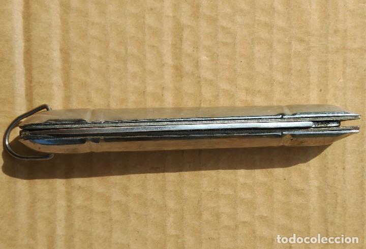 Militaria: Navaja antigua plegable todo metalica, sin defectos - Foto 4 - 118216771