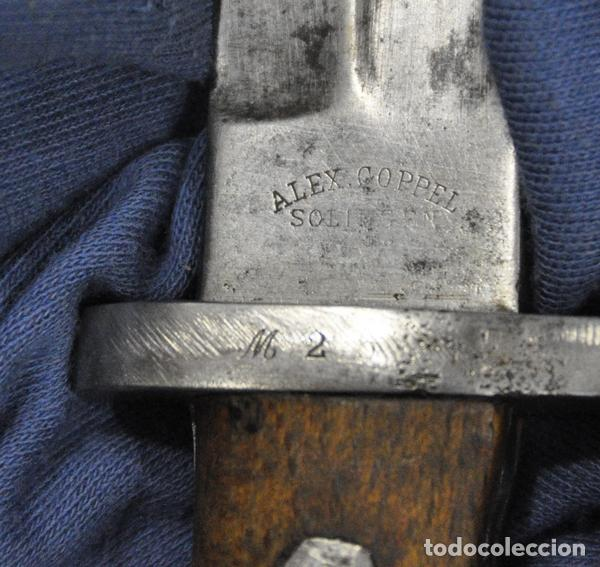 Militaria: Bayoneta Mauser Modelo 1935. Fabricada para Turquía. Fabricada por Alex Coppel Solingen. Sin vaina. - Foto 4 - 118832055
