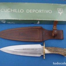 Militaria: CUCHILLO DE REMATE MARCA MUELA MODELO SERREÑO -S- DESCATALOGADO. Lote 120039651