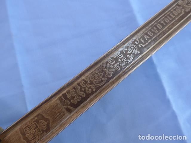 Militaria: * Antigua espada sable de oficial de caballeria de Amadeo I (hoja 1871), modelo 1840. Original. ZX - Foto 12 - 121317699