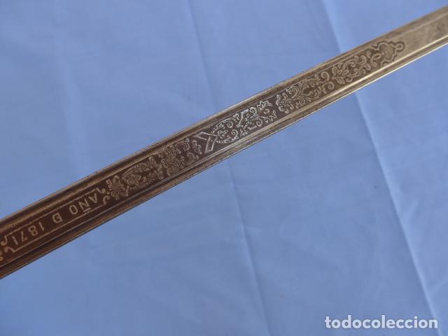 Militaria: * Antigua espada sable de oficial de caballeria de Amadeo I (hoja 1871), modelo 1840. Original. ZX - Foto 18 - 121317699