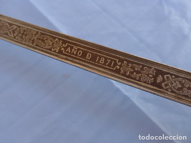 Militaria: * Antigua espada sable de oficial de caballeria de Amadeo I (hoja 1871), modelo 1840. Original. ZX - Foto 19 - 121317699
