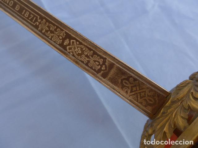 Militaria: * Antigua espada sable de oficial de caballeria de Amadeo I (hoja 1871), modelo 1840. Original. ZX - Foto 20 - 121317699