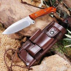 Militaria: CUCHILLO J&V CDA CELTIBERO 2.0 EVOLUTION ACERO MOVA 58 COCOBOLO FUNDA CUERO KNIFE MESSER. Lote 124263191