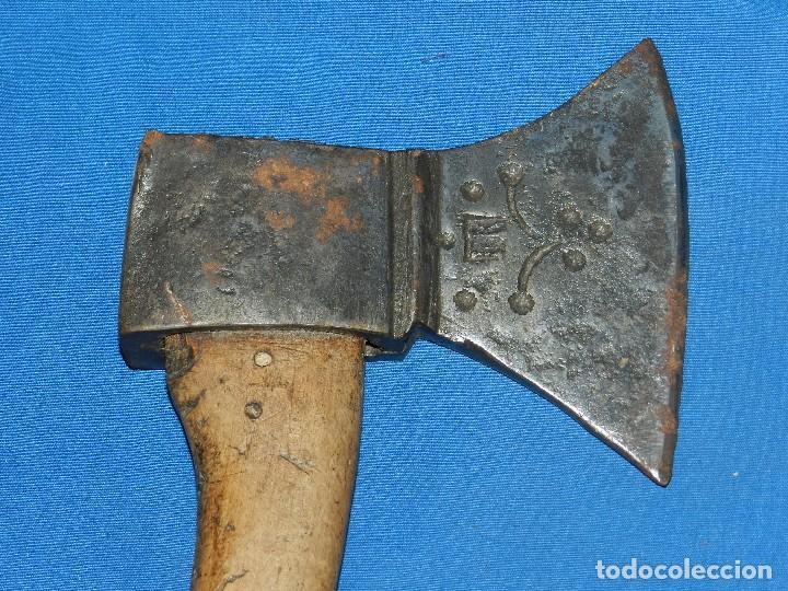 (BF) HACHA ANTIGUA MARCADA S.XIX - 36 X 17C M, SEÑALES DE USO (Militar - Armas Blancas Originales Fabricadas entre 1851 y 1945)