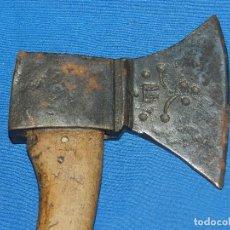 Militaria: (BF) HACHA ANTIGUA MARCADA S.XIX - 36 X 17C M, SEÑALES DE USO. Lote 124609827