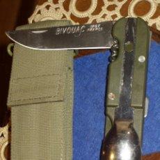 Militaria: NAVAJA MILITAR SUPERVIVENCIA BIVOUAC,MADE IN FRANCE.. Lote 146324833