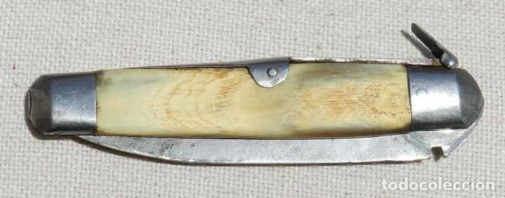 Militaria: Antigua navaja de palanquilla cachas de hueso o asta, posiblemente de Albacete o Santa Cruz de Mudel - Foto 11 - 127817791