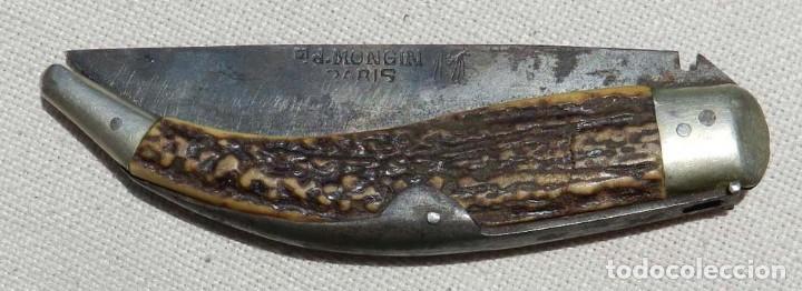 Militaria: Antigua navaja Ed. Mongin, París, comienzos del s. XX, original. Mide 24 cms. abierta.Magnífico esta - Foto 3 - 127821155
