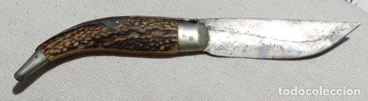 Militaria: Antigua navaja Ed. Mongin, París, comienzos del s. XX, original. Mide 24 cms. abierta.Magnífico esta - Foto 9 - 127821155