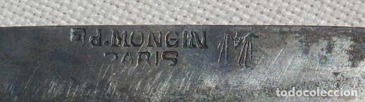 Militaria: Antigua navaja Ed. Mongin, París, comienzos del s. XX, original. Mide 24 cms. abierta.Magnífico esta - Foto 13 - 127821155